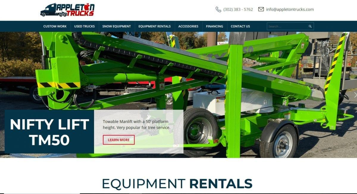Web Design: Appleton Trucks