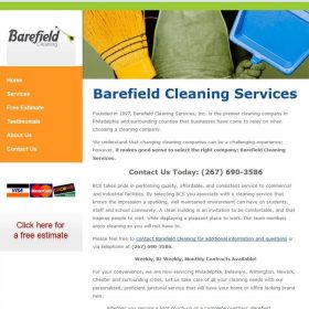 Web Design: Barefield Cleaning Services