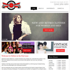Web Design: Clothes in the Past Lane