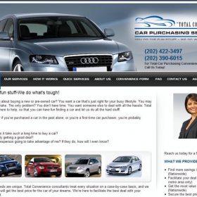 Web Design: Total Convenience Car Purchasing Service