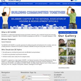Non-Profit Web Design: DE NAHRO