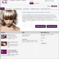 Web Design: Elayne James Salon