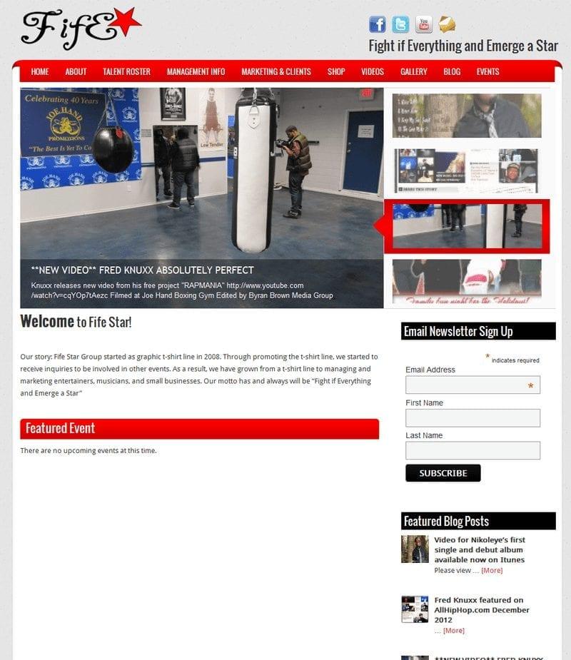 Web Design: Fife Star