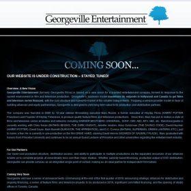 Web Design: Georgeville Entertainment