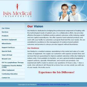 Web Design: Isis Medical