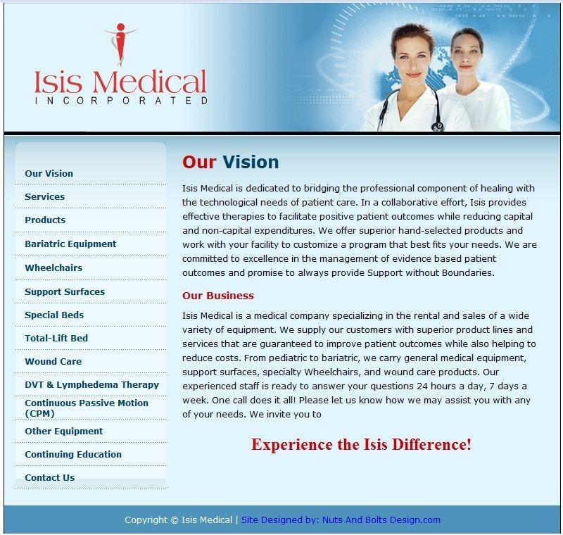 Web Design: Isis Medical