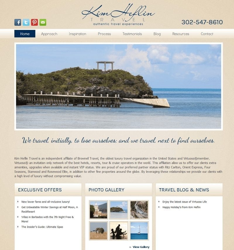 Web Design: Kim Heflin Travel