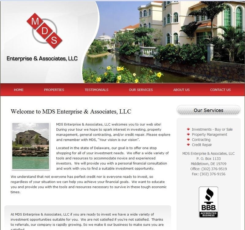 Web Design: MDS Enterprise & Associates