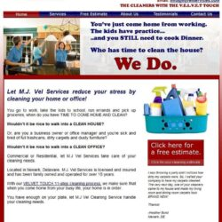 Web Design: MJ Vel Cleaning and Lawn Services