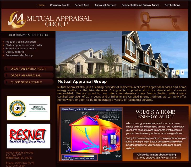 Web Design: Mutual Appraisal Group