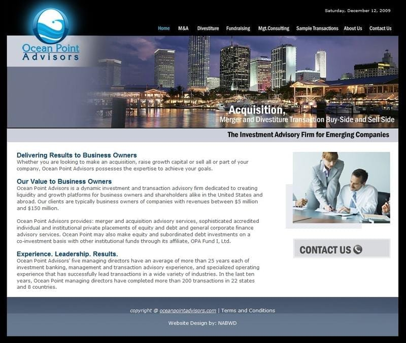 Web Design: Ocean Point Advisors