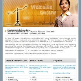 Web Design: Sanclemente & Associates
