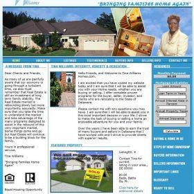 Web Design: Tina Williams Homes