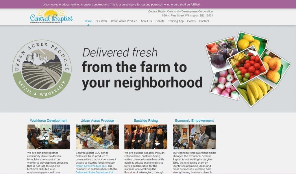Non-Profit Web Design: Central Baptist CDC