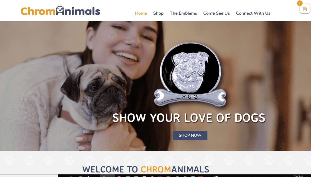 Web Design: Chrom Animals