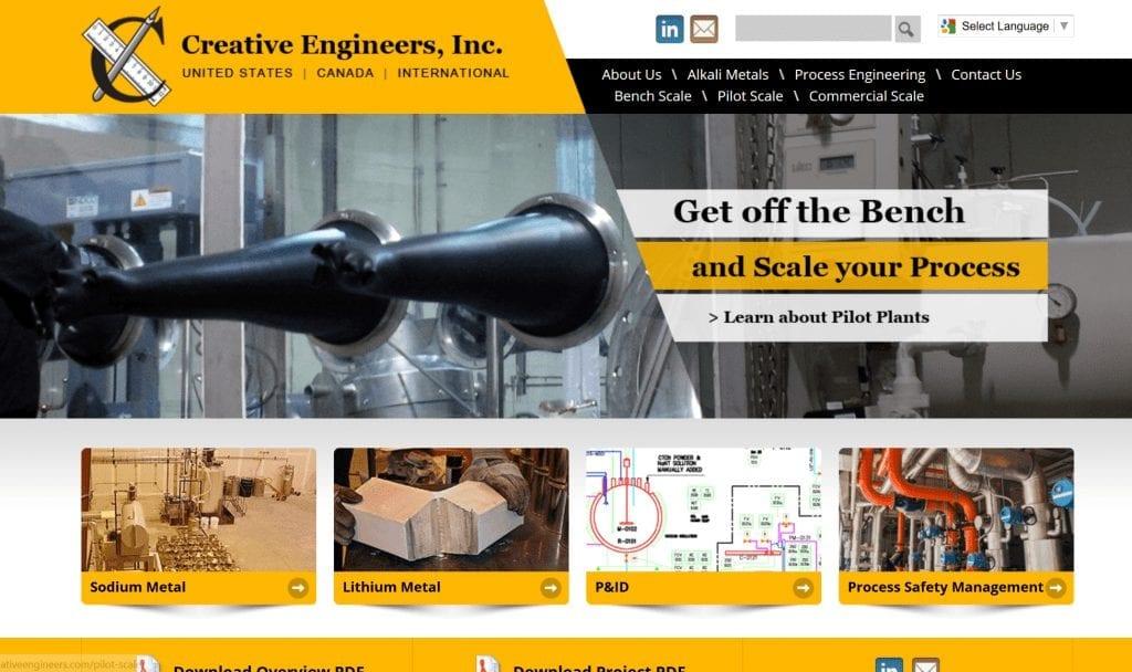Web Design: Creative Engineers, Inc.