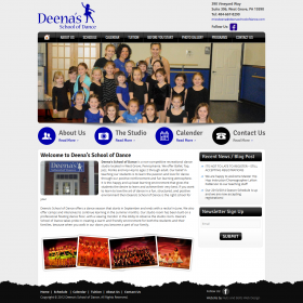 Web Design: Deena's School of Dance