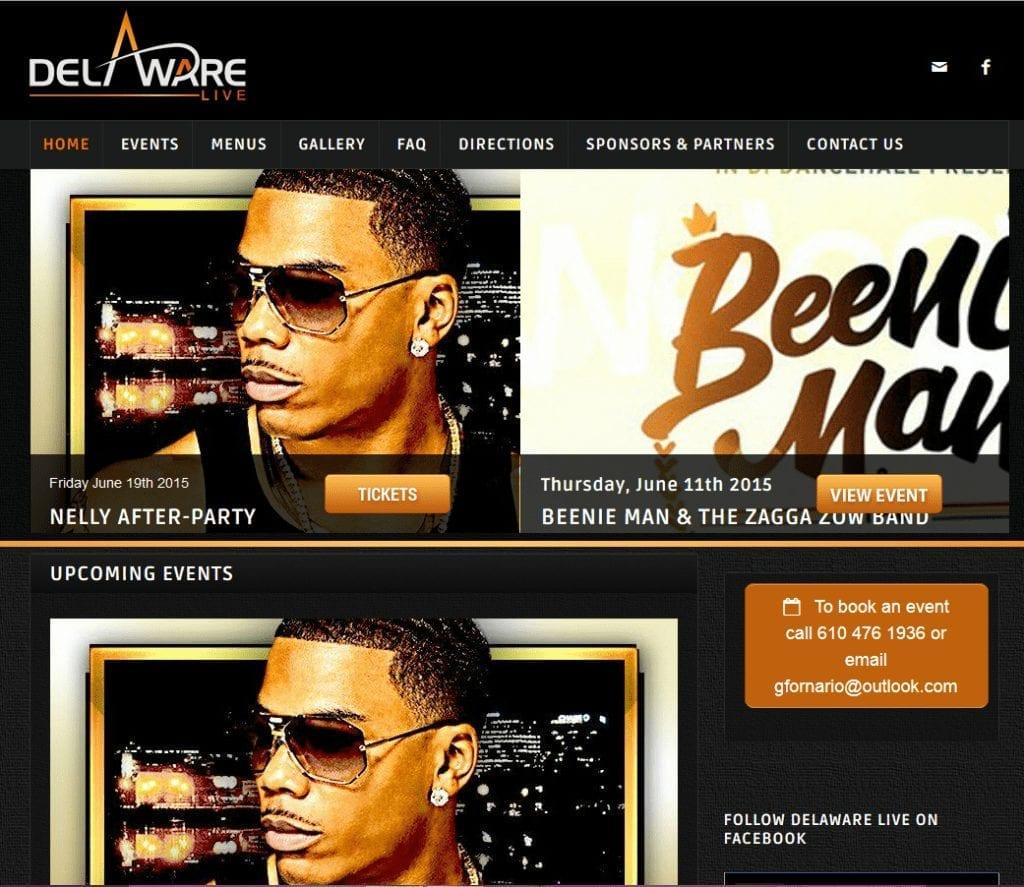 Web Design: Delaware Live