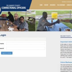 Non-Profit Web Design: Delaware Country Correctional Officers