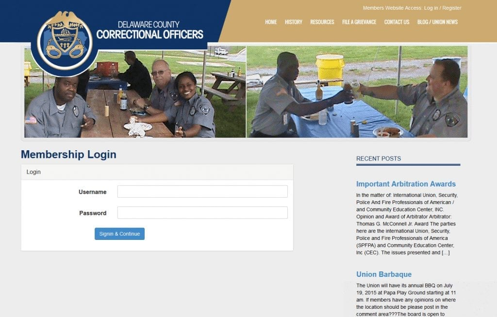 Delaware Country Correctional Officers