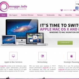 Website Design: Mogge.info (Dru for Mac)