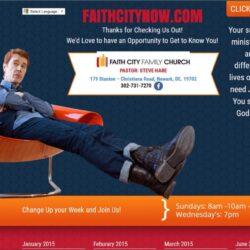 Non-Profit Web Design: Faith City Church