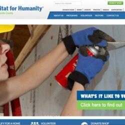 Non-Profit Web Design: Habitat for Humanity, New Castle County