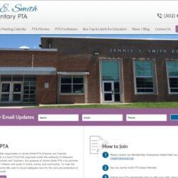 Non-Profit Web Design: Jennie E. Smith PTA