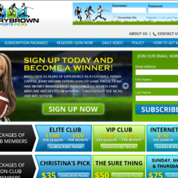Web Design: Jerry Brown Sports Picks