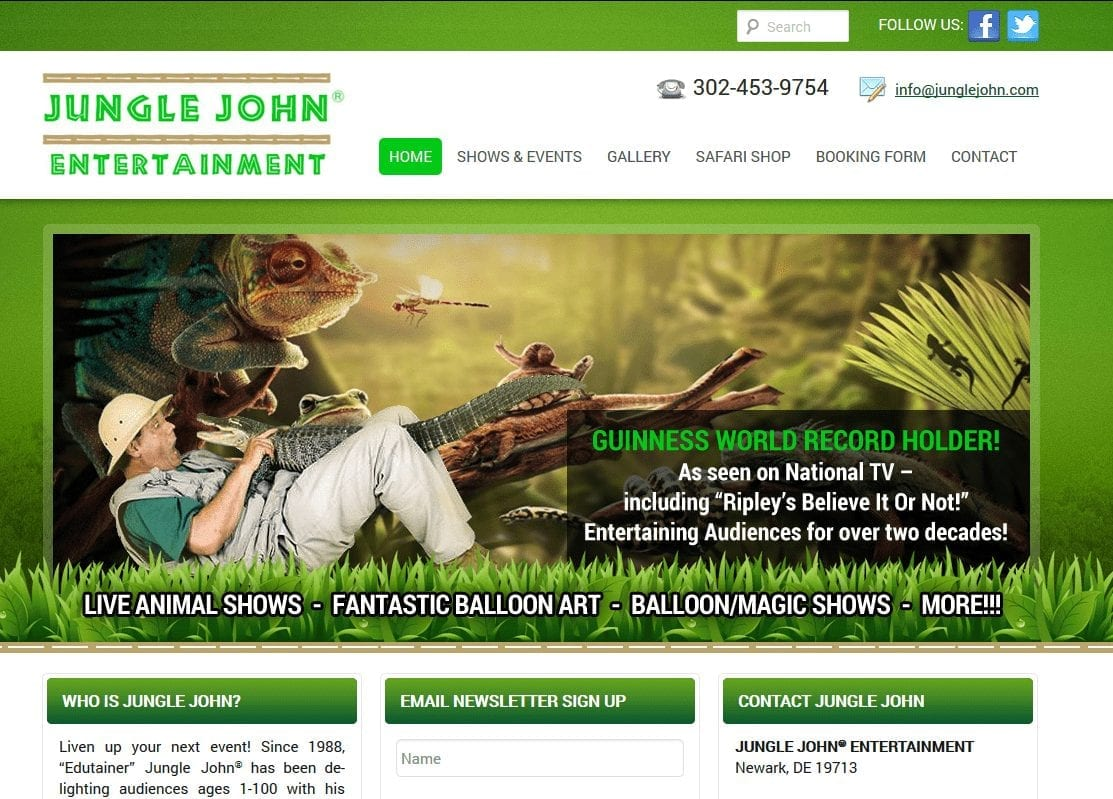 Web Design: Jungle John