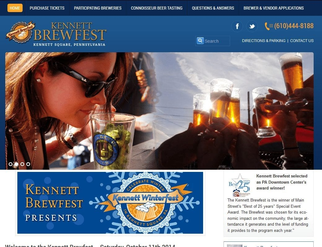 Web Design: Kennett Brewfest