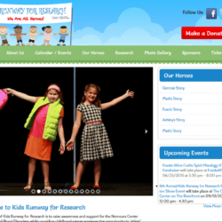 Non-Profit Web Design: Kids Runway for Research