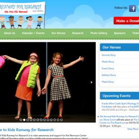 Non-Profit Web Design: Kids Runway for Research