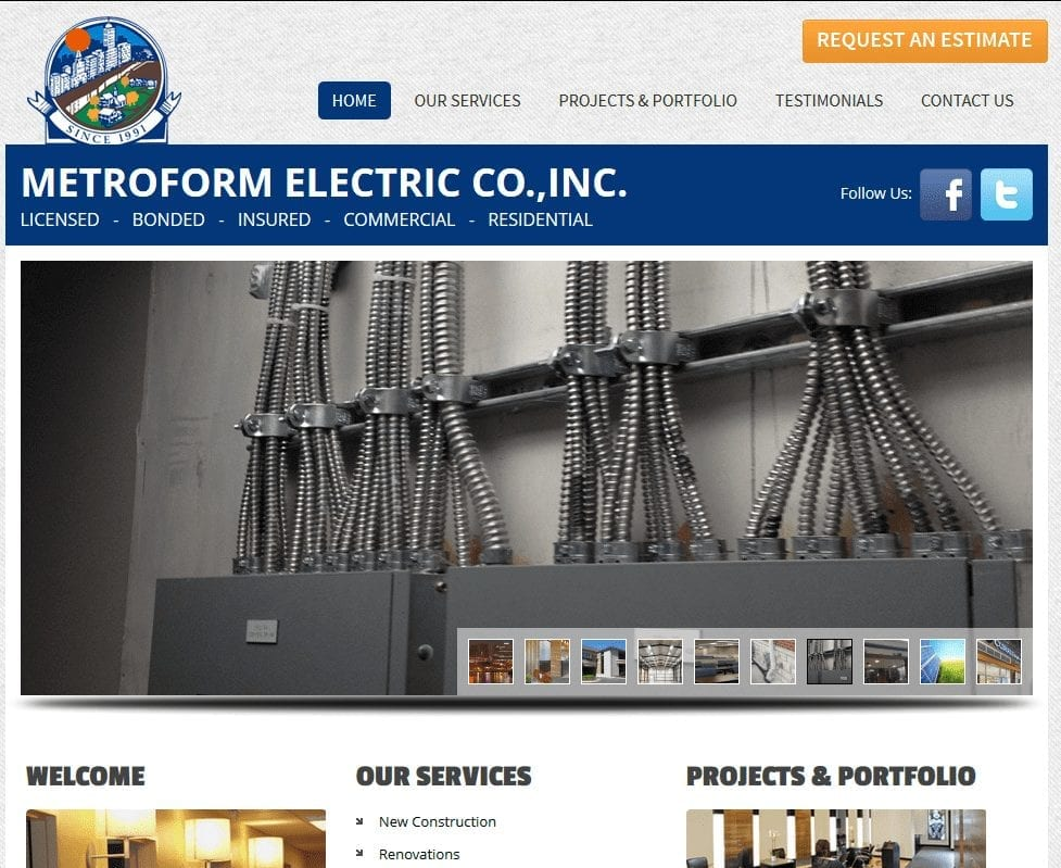 Web Design: Metroform Electric Co.