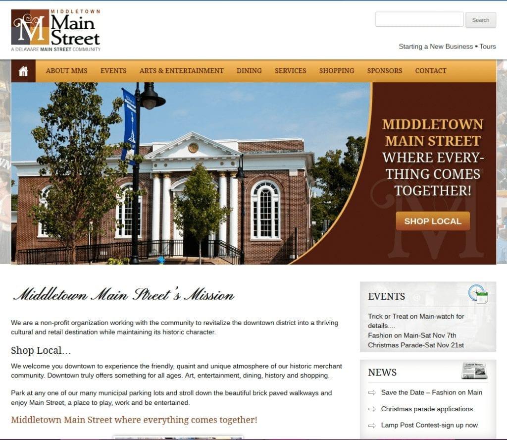 Non-Profit Web Design: Middletown Main Street