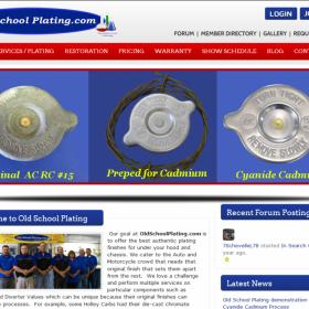 Web Design: Old School Plating