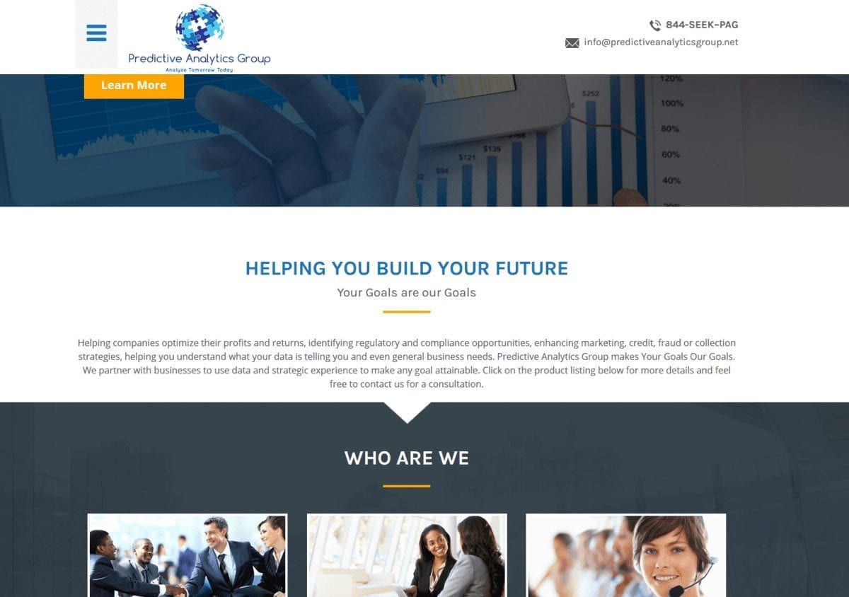Web Design: Predictive Analytics Group