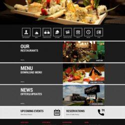 Web Design: Saketumi (layout option 1)