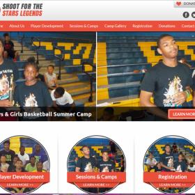 Non-Profit Web Design: Shoot for the Stars Legends