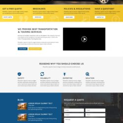 Web Design: Sunflower Luxury Touring Services