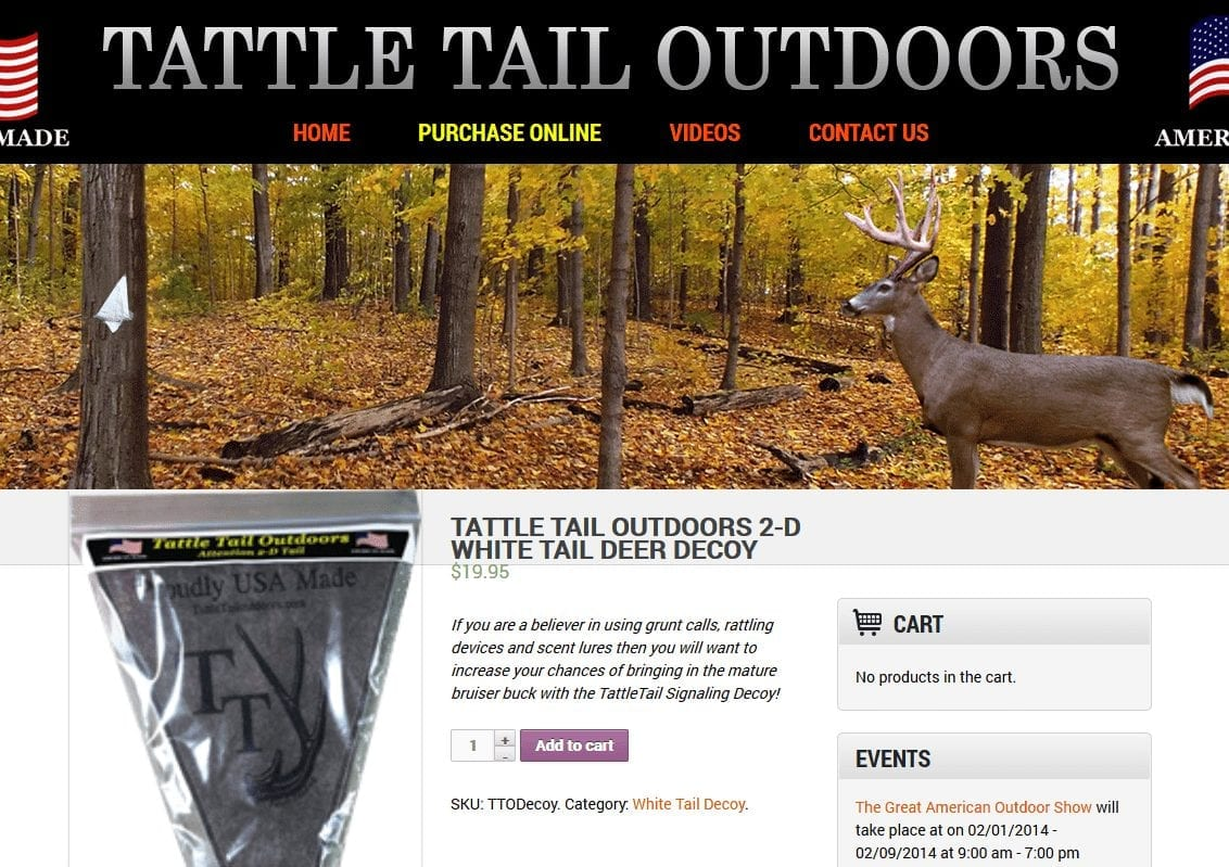 Web Design: Tattletail Outdoors