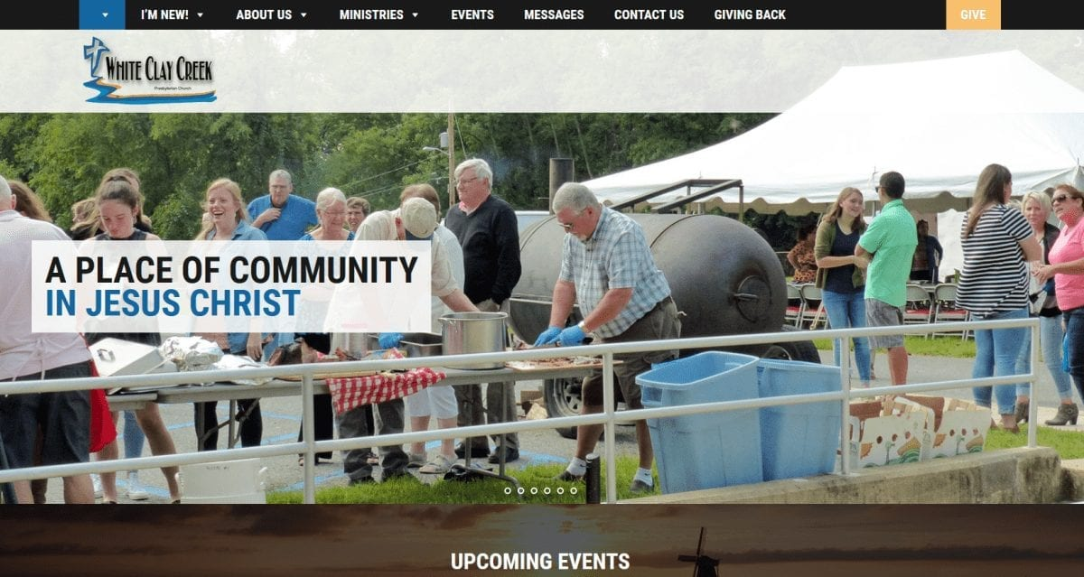Non-Profit Web Design: White Clay Creek Presbyterian Church