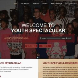 Non-Profit Web Design: Youth Spectacular